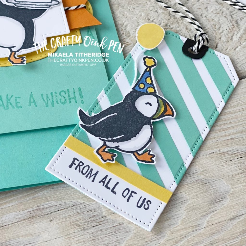 Stampin' Up! annual catalogue Party Puffins Gift Tag Dies