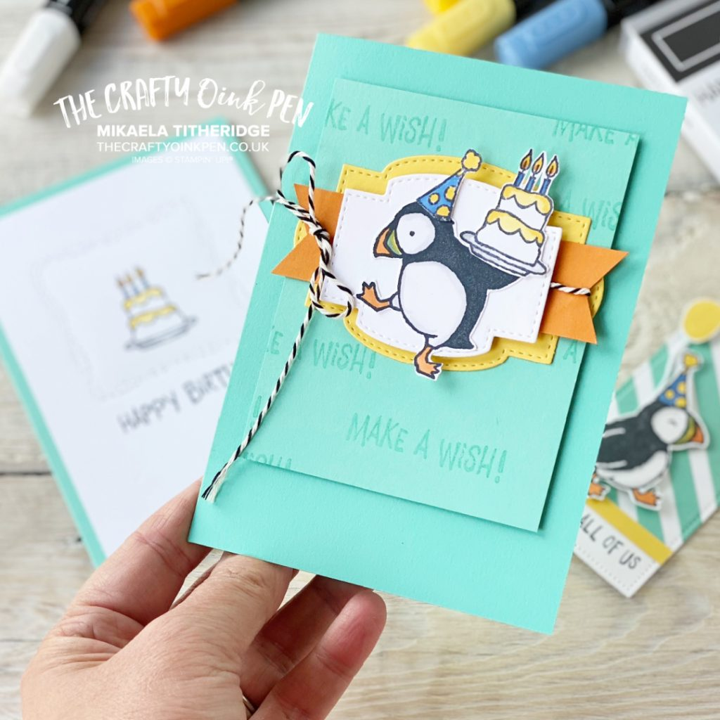 Stampin' Up! new annual catalogue Party Puffins Birthday card