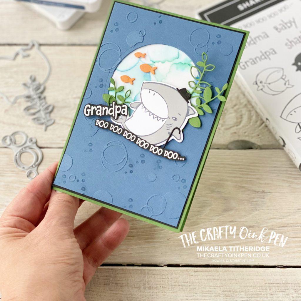 Stampin' Up! Handmade Masculine card using Shark Frenzy
