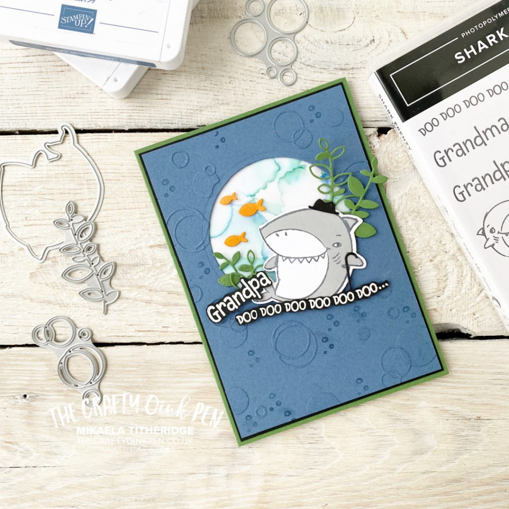 Stampin' Up! Handmade Card using Shark Frenzy for a masculine makes theme