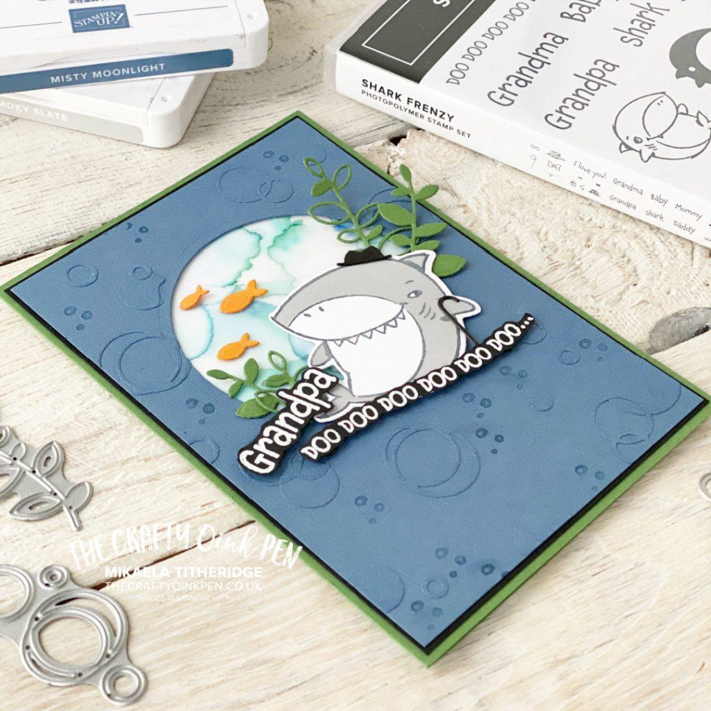 Stampin' Up! Handmade card using Shark Frenzy card