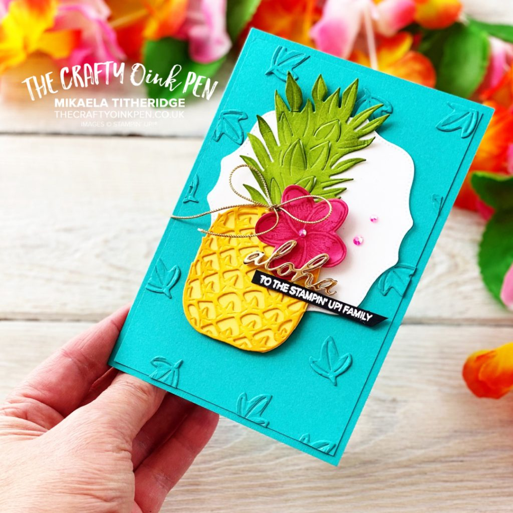 Stampin' Up! Timeless Tropical Pineapple card for the Maui Virtual Incentive Trip 2021