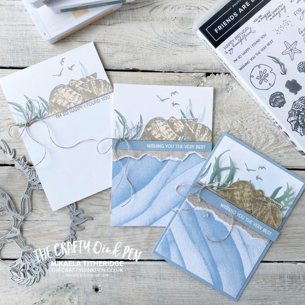 What do you Sea? Friends are like Seashells Card Set