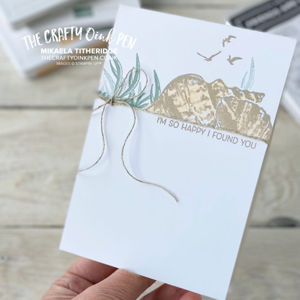 What do you Sea? Blog Hop card using Friends are like Seashells