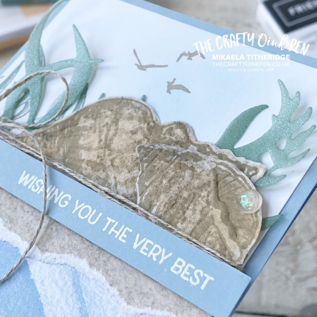 What do you Sea? Friends are like Seashells with Embossed shells and Shimmery In Color Vellum