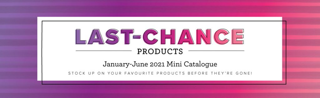 Last Chance list from Stampin' Up! with up to 50% Discount