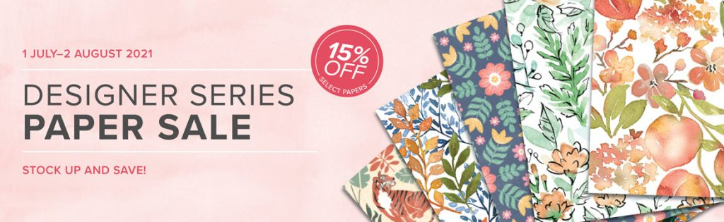 Stampin' Up! Paper Sale July 2021 15% off