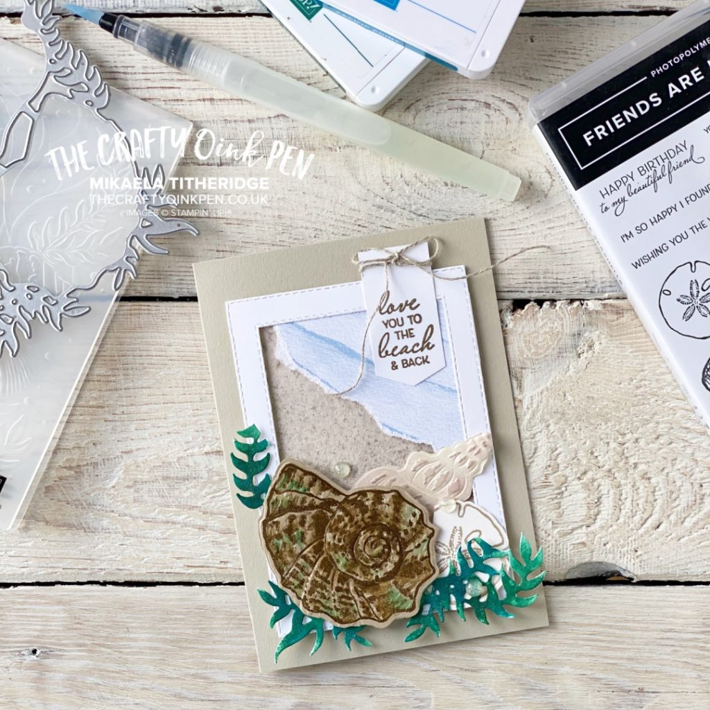 All Star Tutorial Blog Hop Card using Sand and Sea