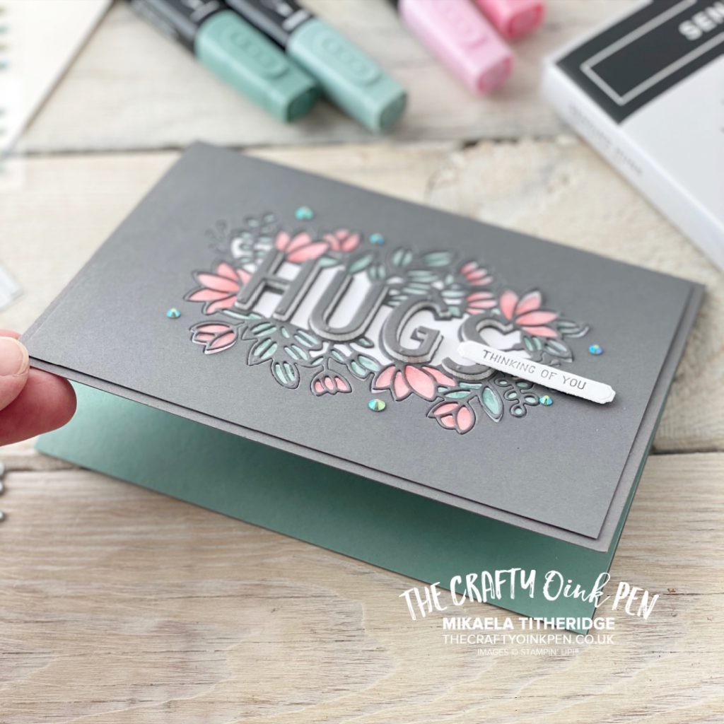 Stampin' Fancy Friday handmade card using Sending Hugs for the In-color Challenge