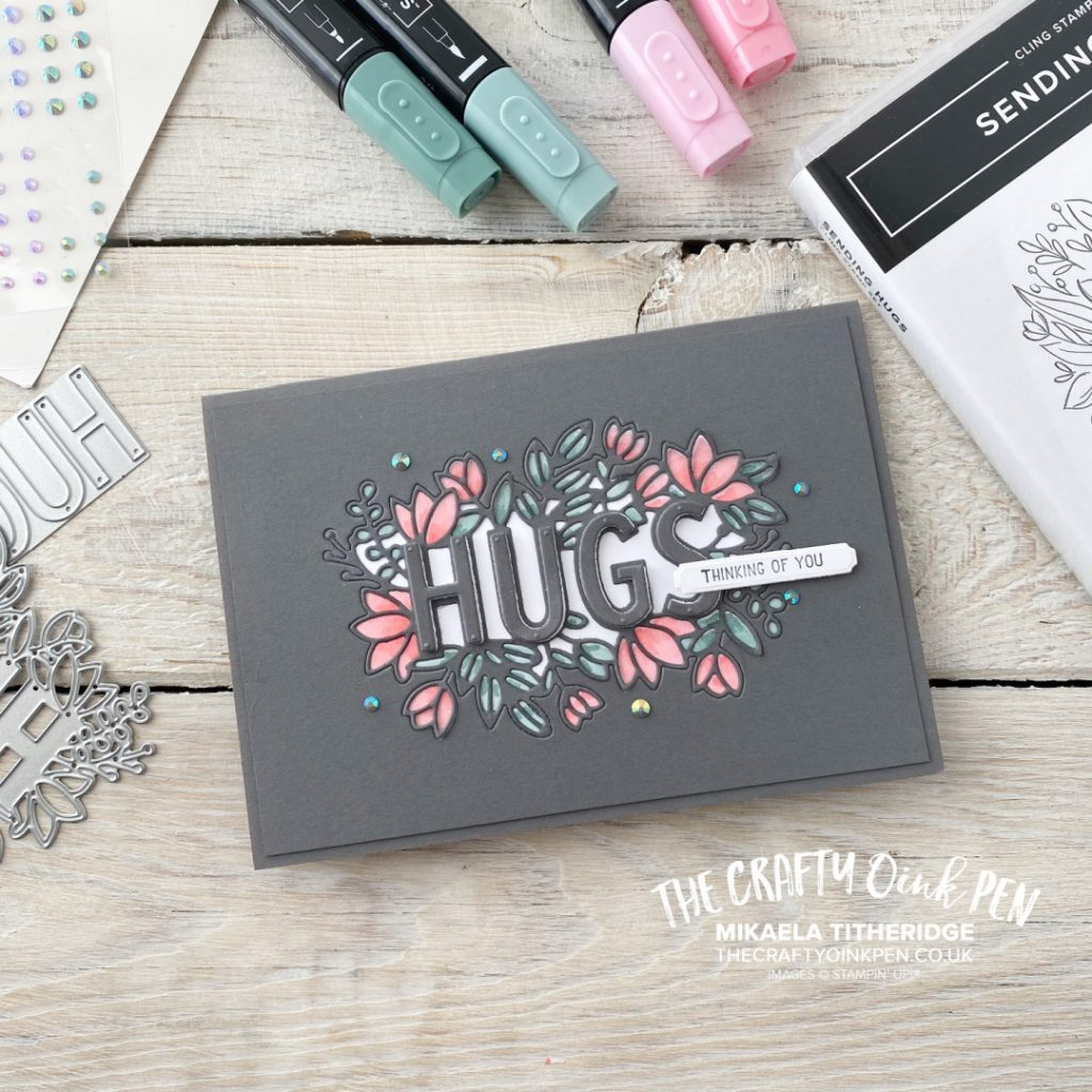 Stampin' Up! Handmade Card using Sending Hugs for the Fancy Friday In-Color Challenge