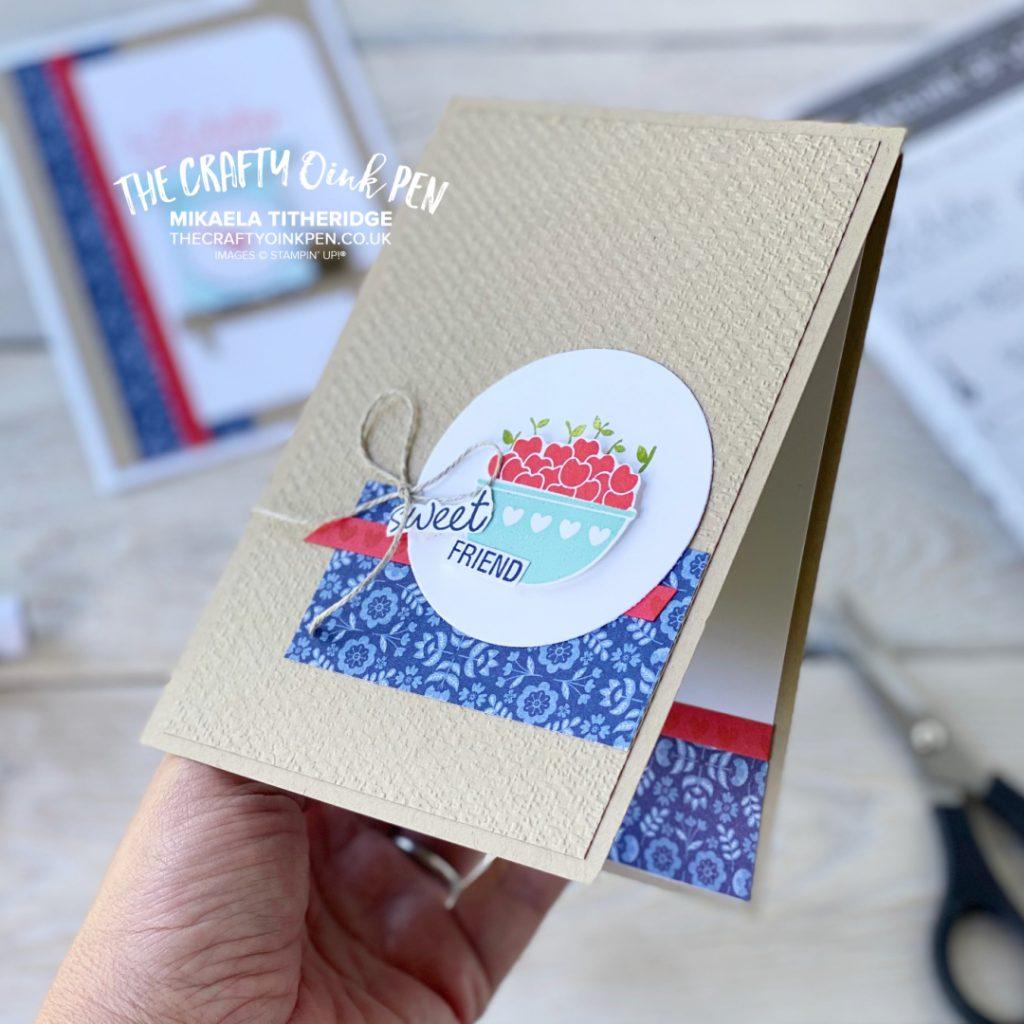 Stampin' Up! Measure of Love bowl of cherries handmade greetings card