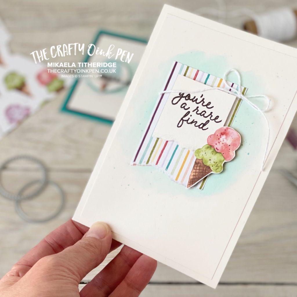 Stampin' Up! Handmade Card using Ice Cream corner