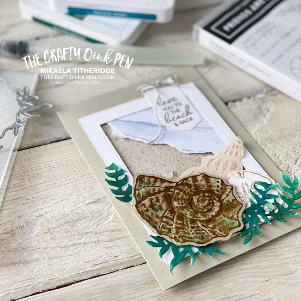 All Star Tutorial Blog Hop Card using Sand and Sea Suite
