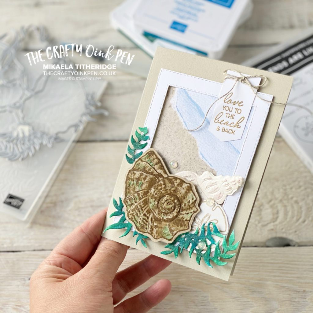 All Star Tutorial blog Hop card using Sand and Sea by Stampin' Up!