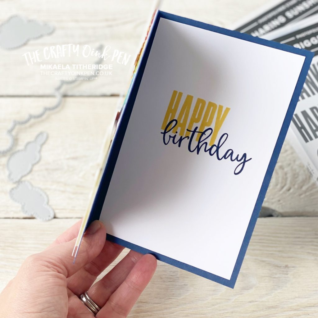Stampin' Up! Biggest Wishes for Sharing Sunshine internal card detail