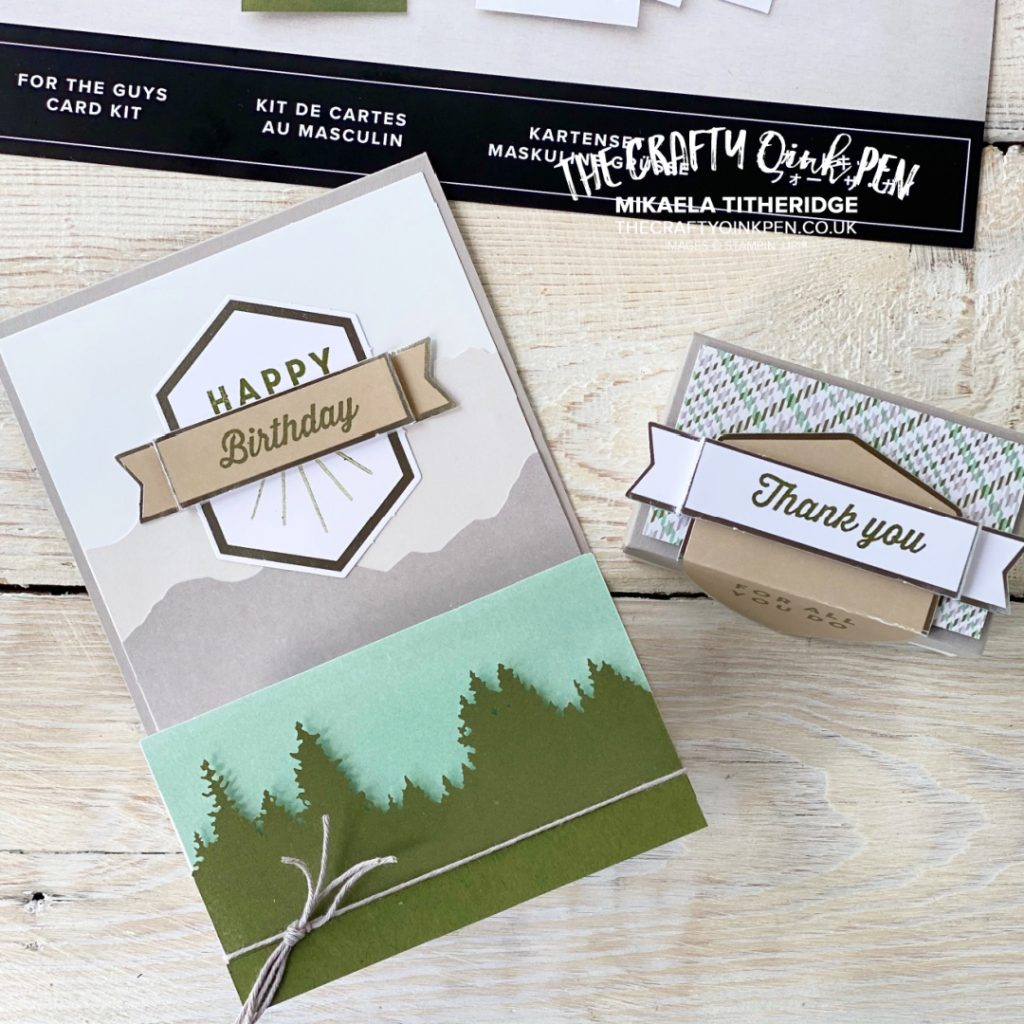 OSAT One for the Guys Masculine themed card and gift box