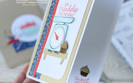 Stampin' Up! Measure of Love Scales and Cupcake card inside edge
