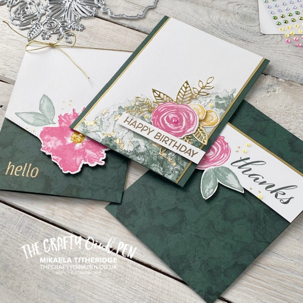 Stampin' Up! Artistically Inked used or a Floral Frenzy set of cards
