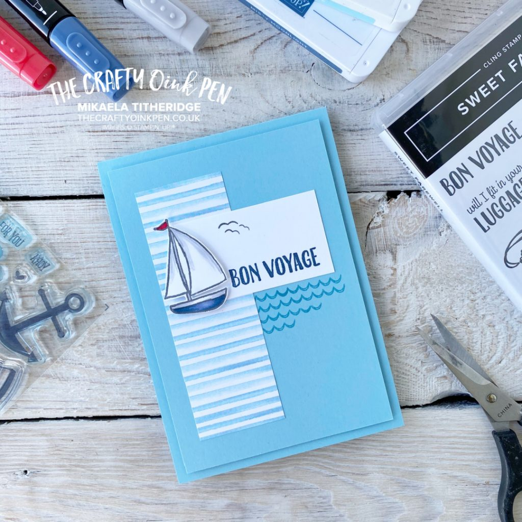 Stampin' Up! Sweet Farewell boat card by Mikaela Titheridge