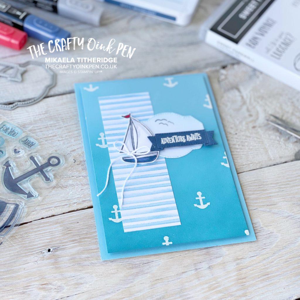 Stampin' Up! Sweet Farewell nautical greetings card