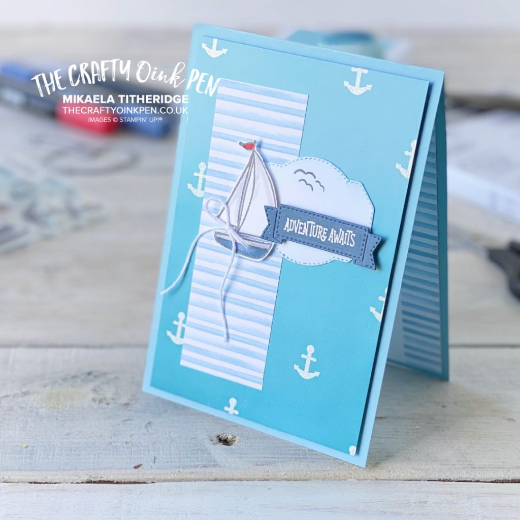 Stampin' Up! Sweet Farewell Nautical boat and anchor card by Mikaela Titheridge