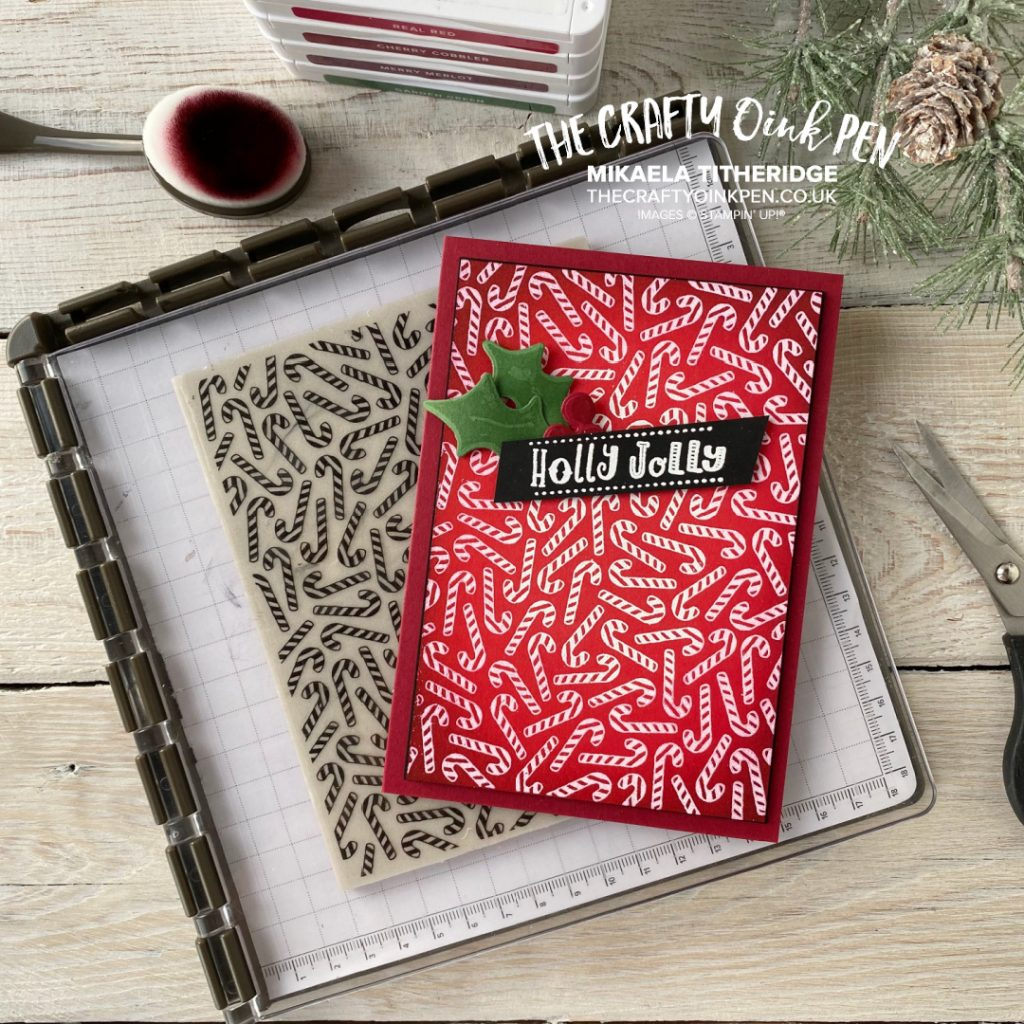 Stampin' Up! Candy Canes Handmade Christmas card
