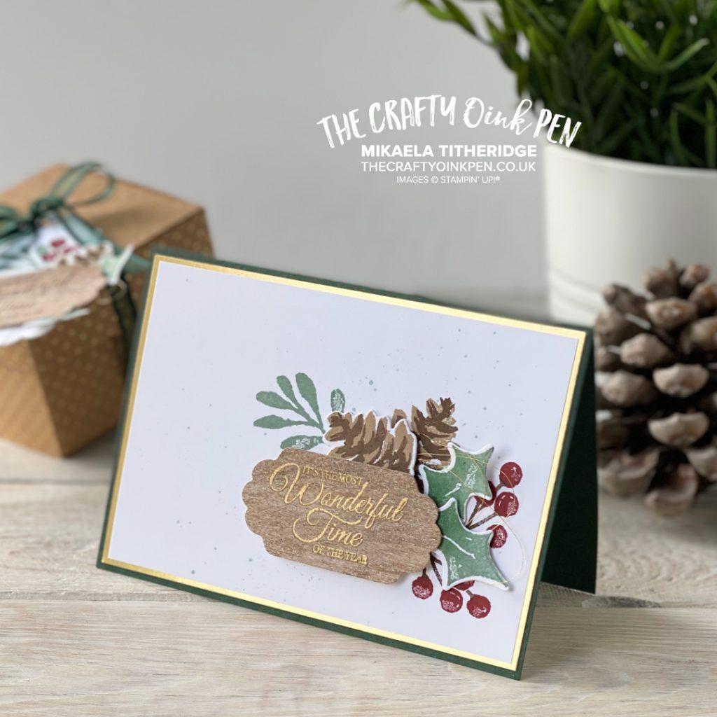 OSAT Christmas Season Painted Christmas card and gift box