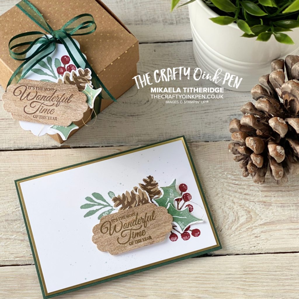 OSAT Painted Christmas Season Card and Box