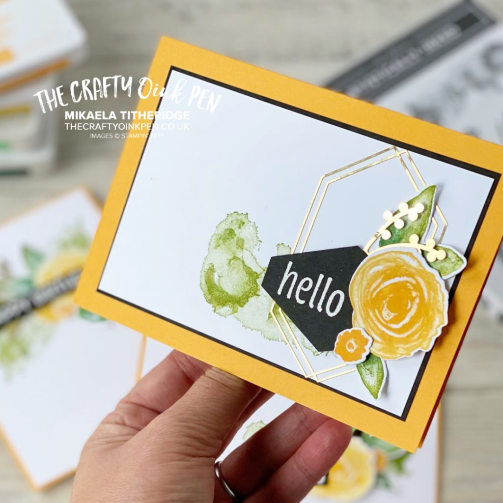 Artistically Inked floral greetings card