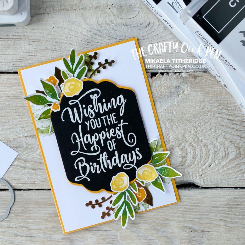 Artistically Inked Christmas Season Birthday card