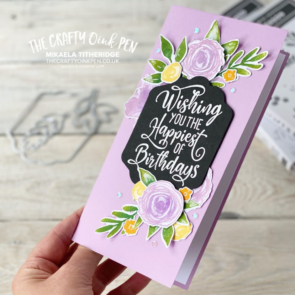 Happiest of Birthday cards using Artistically Inked and Christmas Season by The Crafty oINK Pen
