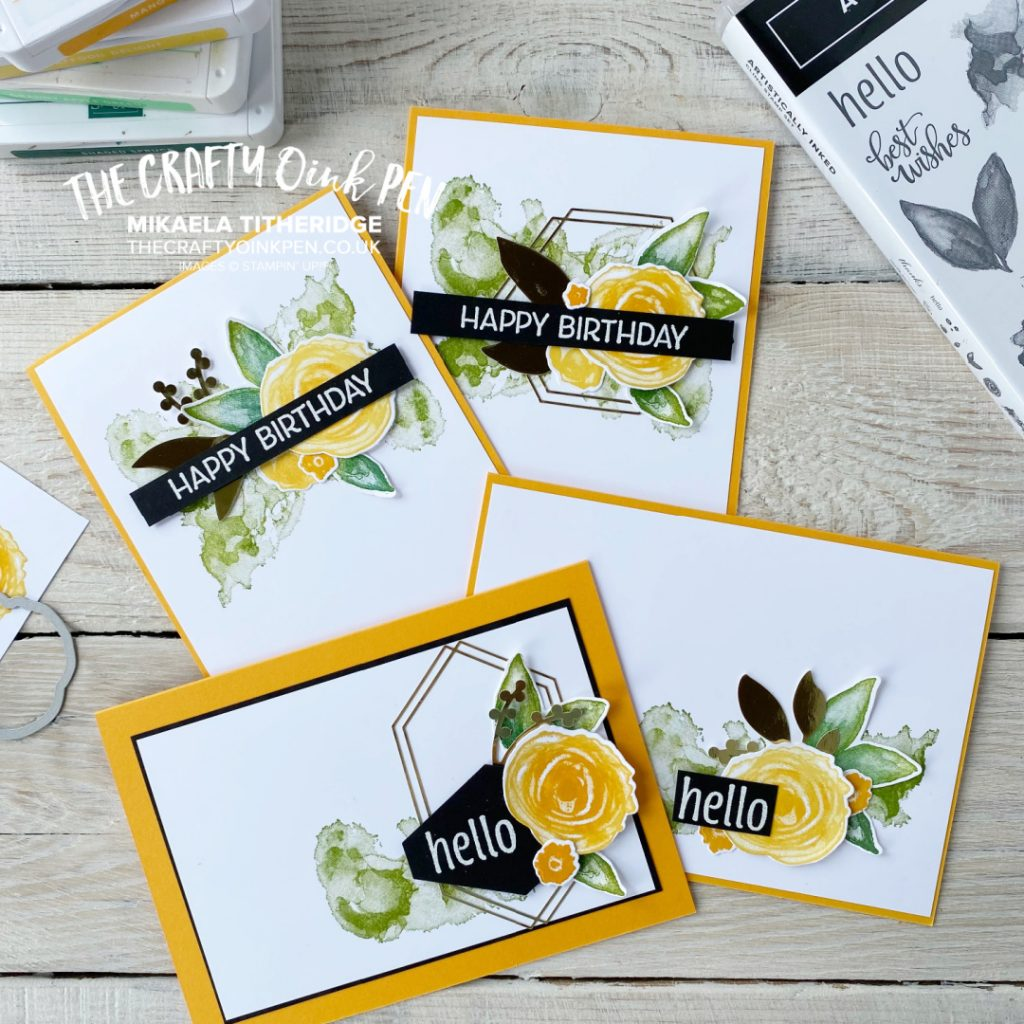 Artistically Inked Handmade Card set