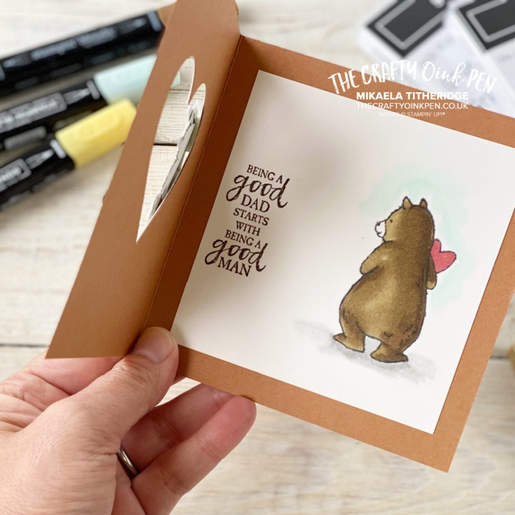 Father's Day Bear card using Count on me by Stampin' Up!
