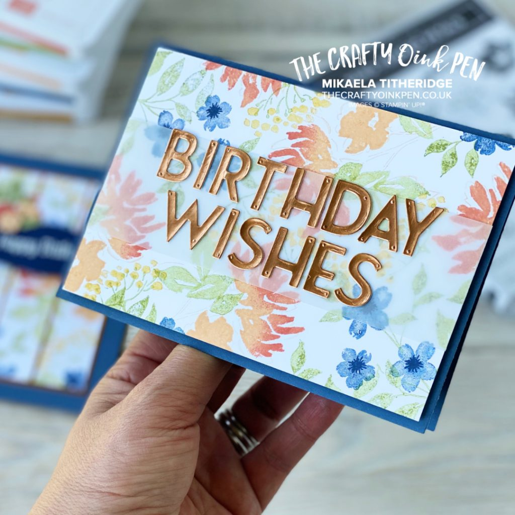 Floral Birthday Card using Hand-Penned Petals and Gold Foil Letters
