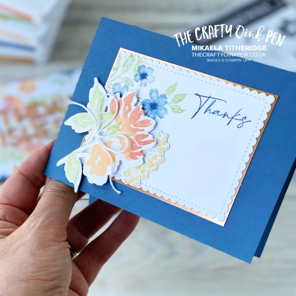 Handmade Floral Card using Hand-Penned Petals