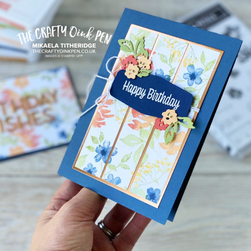Handmade Birthday Card using Hand-Penned Petals by Mikaela Titheridge at The Crafty oINK Pen
