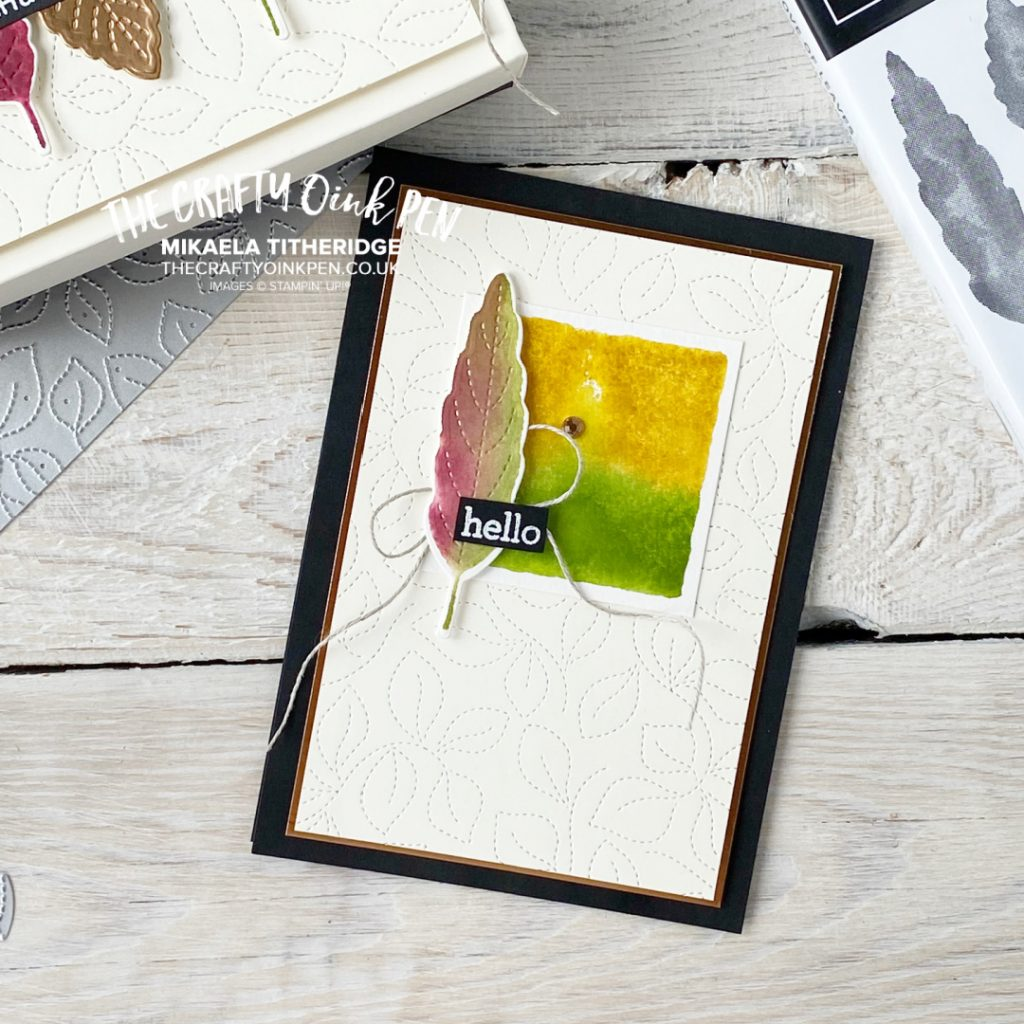 Stampin' Up! Stitched Leaves greetings card
