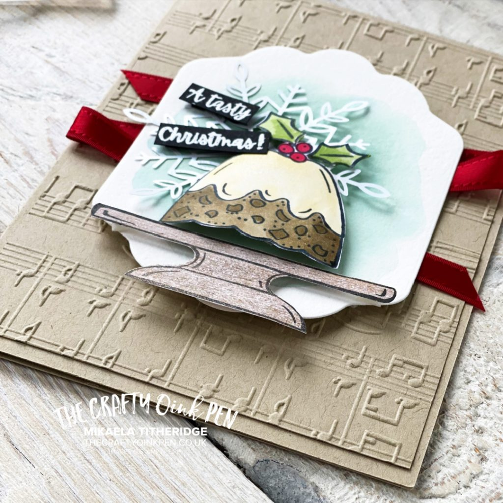 Handmade Card using Sweets and Treats and a Christmas pudding with Merry Melody and a snowflake