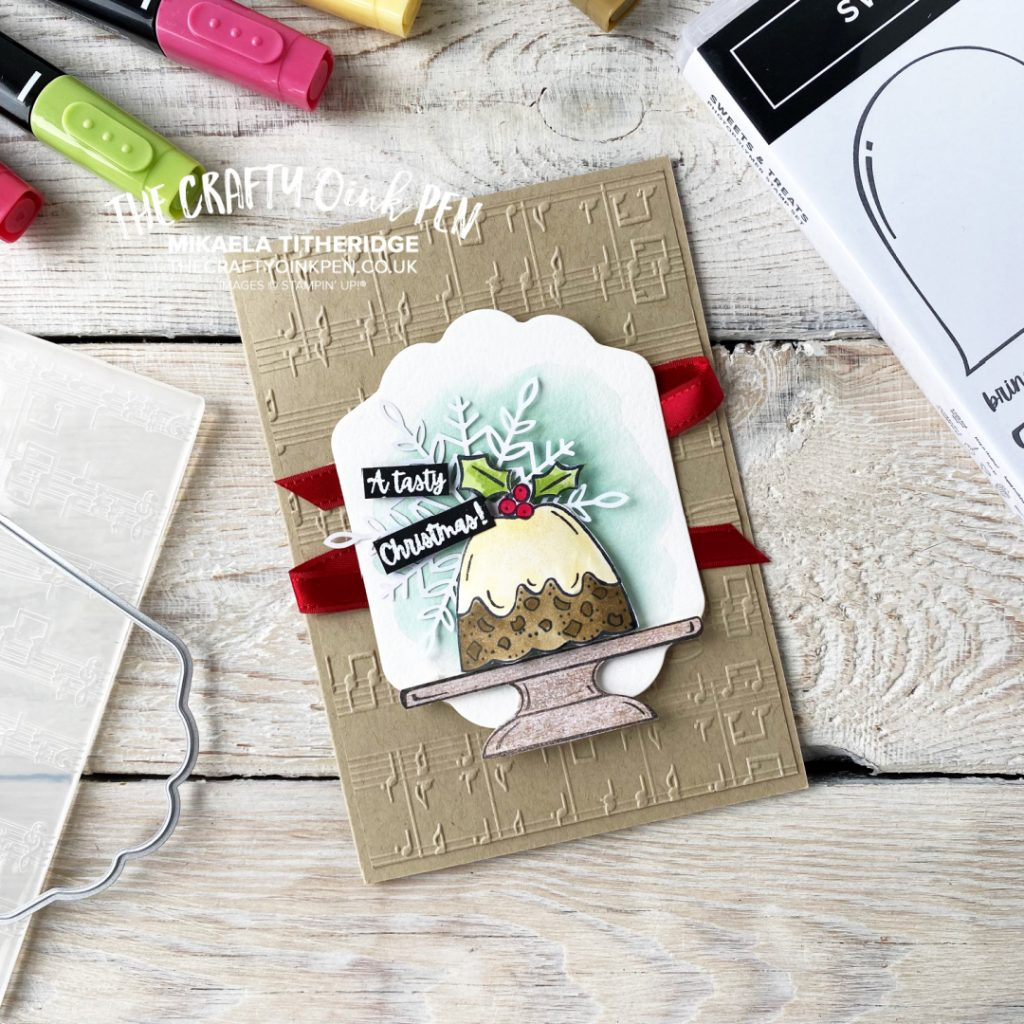 Stampin' Up! Sweets and Treat Christmas Pudding with a Merry Melody card by Mikaela Titheridge