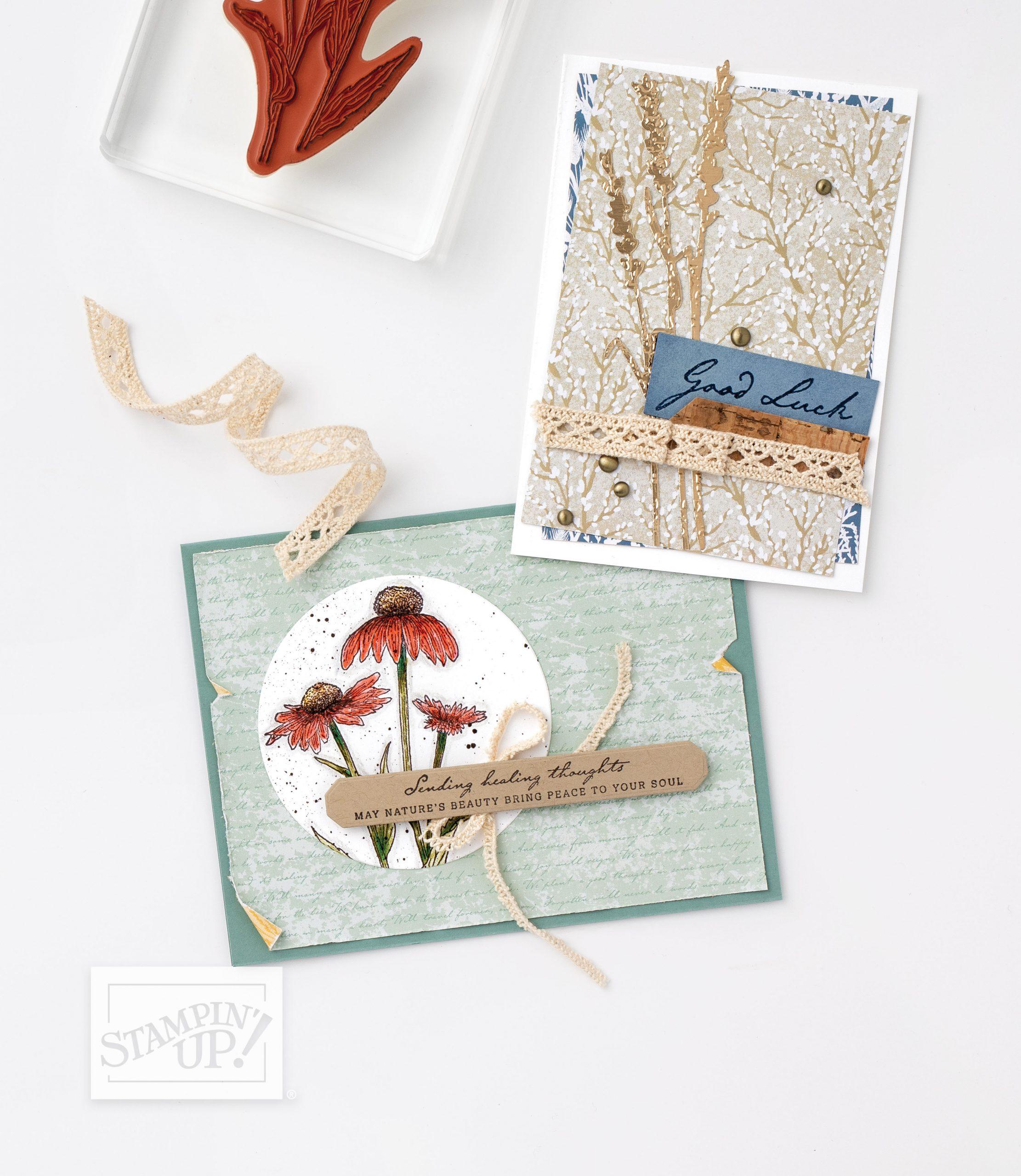 Delivering Cheer Vase of Harvest Meadow Suite Card