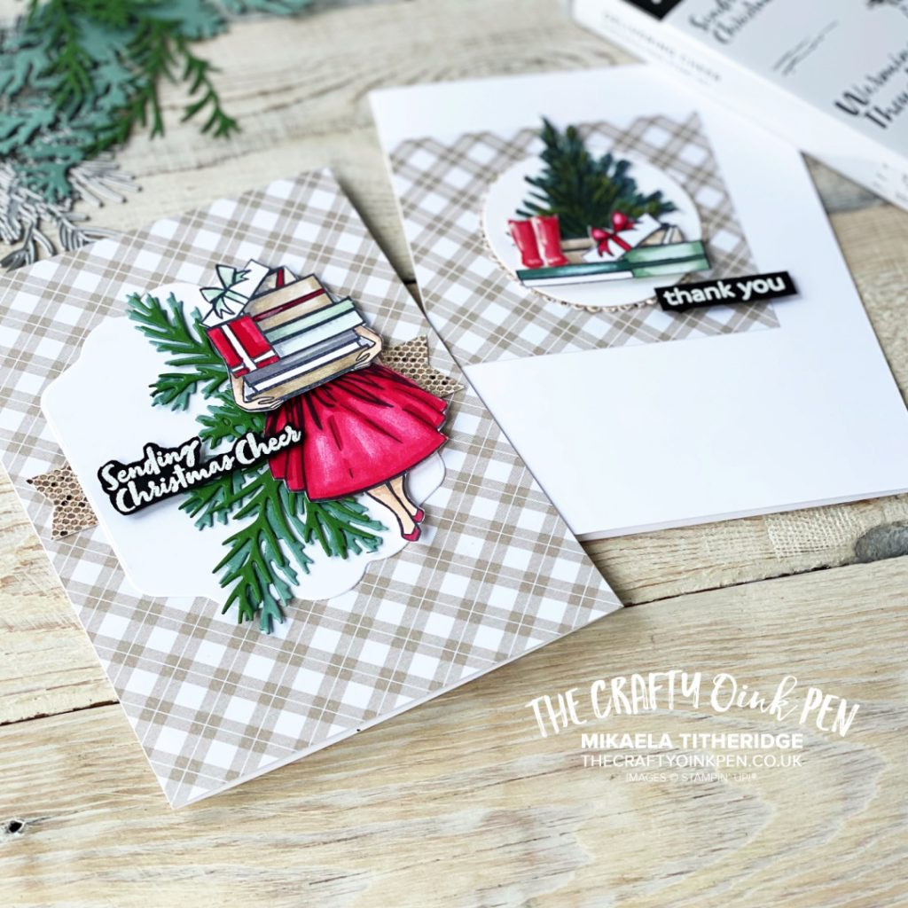 Delivering Cheer Card Set, Christmas and Thank you
