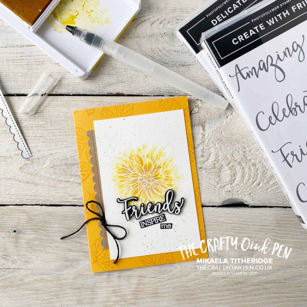 Create with Friends and Delicate Dahlia Watercolored flower