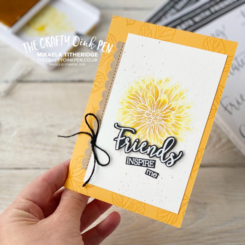 Create with Friends Friendship card to welcome a new Team Member by The Crafty oINK Pen