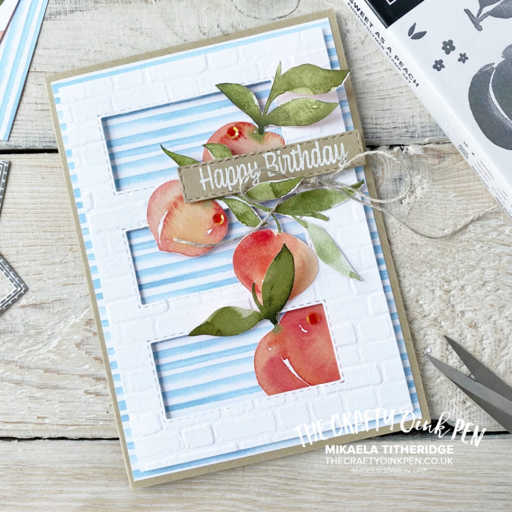 You're a Peach Birthday Card by The Crafty oInk pen