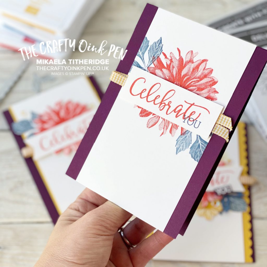 Step it Up with Delicate Dahlias by The Crafty oINK Pen
