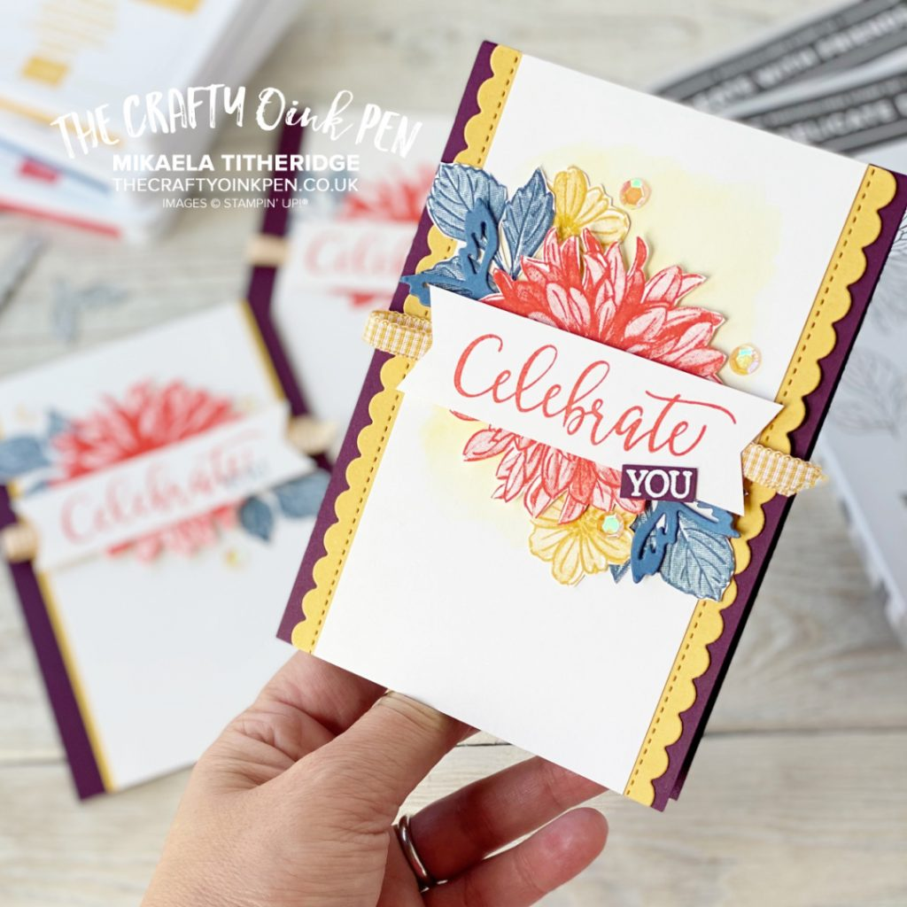 Delicate Dahlias and Create with Friends for a Stepped up Challenge