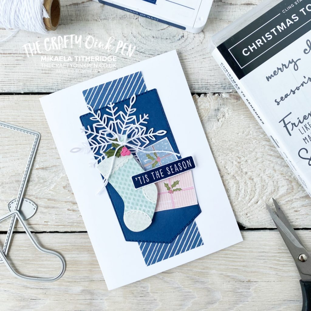 Whimsy and Wonder Stockings and Snowflake card by The Crafty oINK Pen