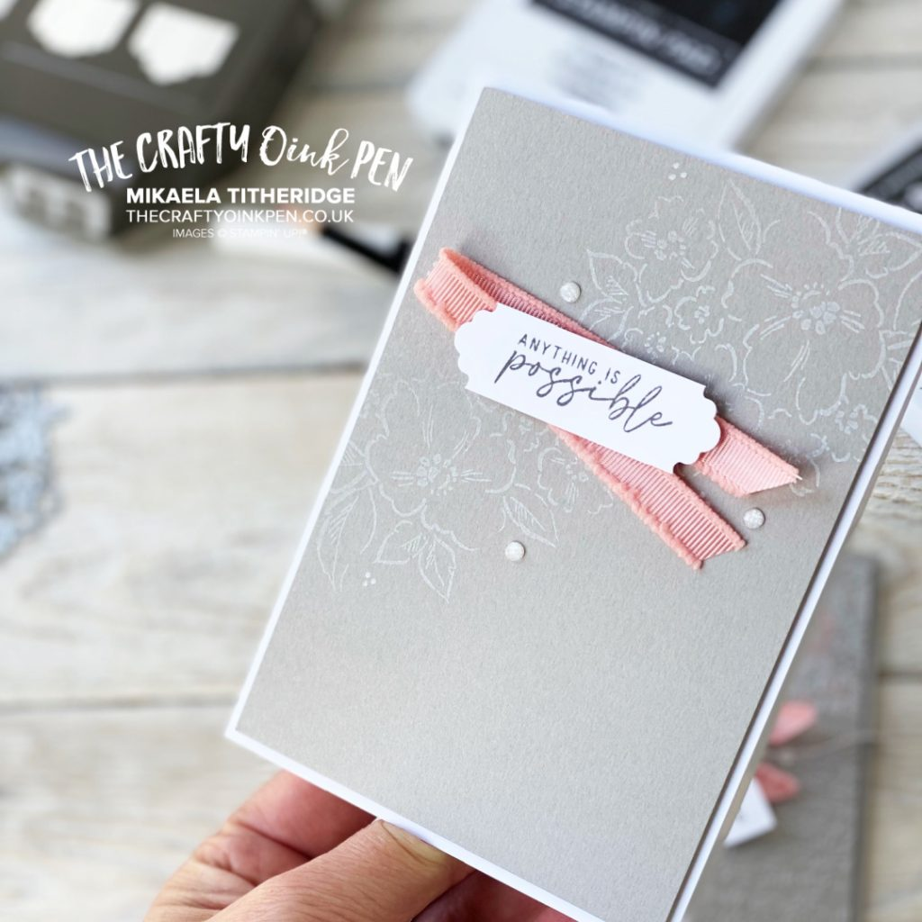 Artfully Stepped up Hand-Penned card