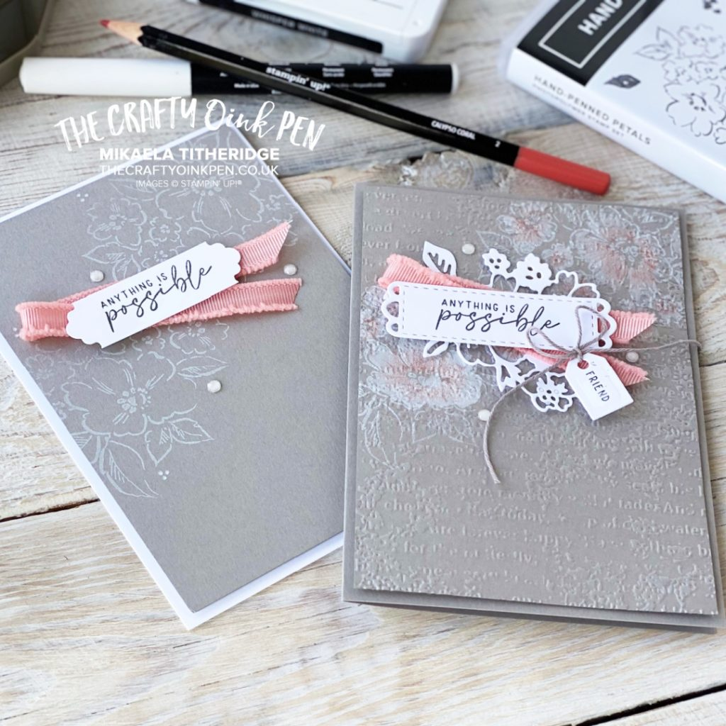 Hand-Penned Artfully Stepped up cards