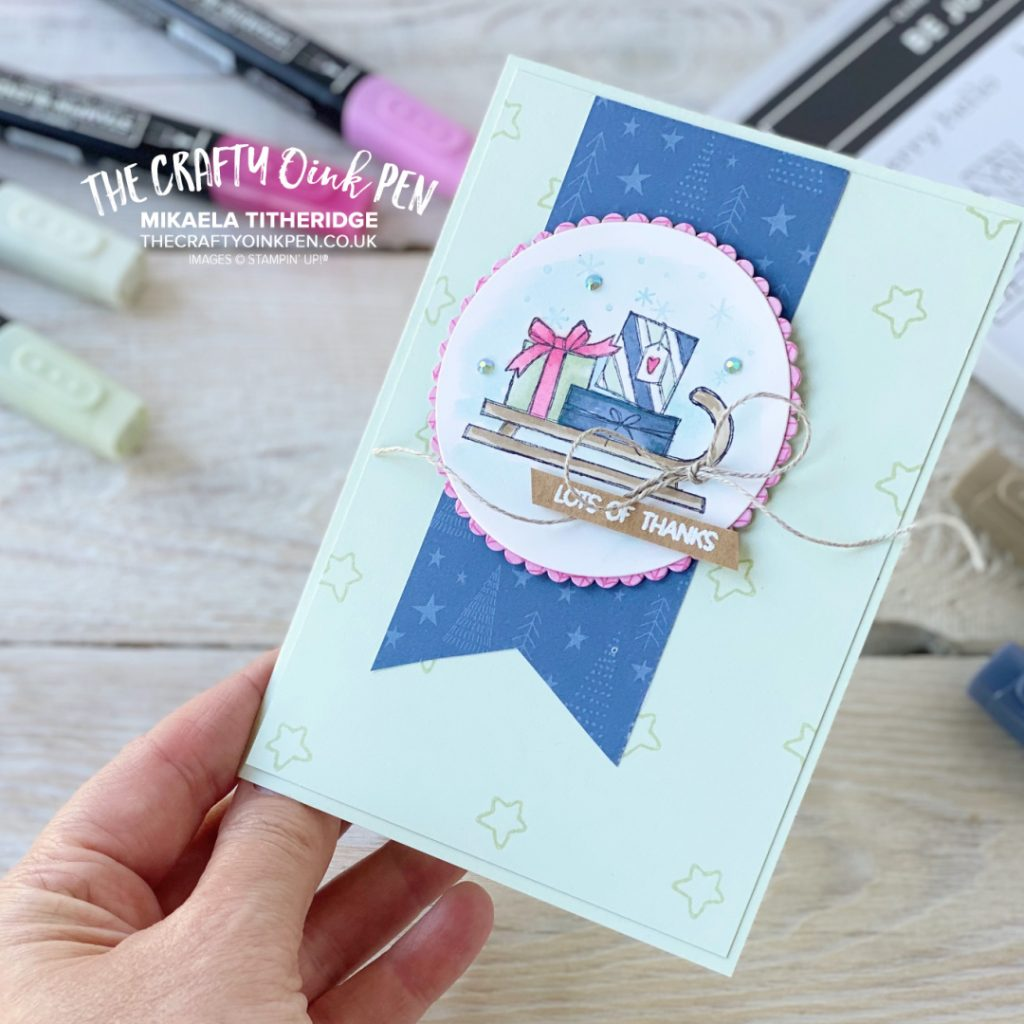 Be Jolly when you send a Handmade Thank you card by The Crafty Oink Pen